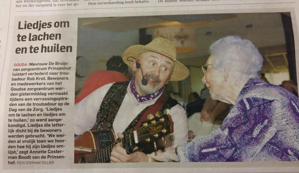 Troubadour Rob Krot Gouda Algemeen Dagblad